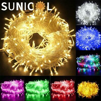 100-1000LED Fairy String Lights for Christmas Tree Bedroom Party Outdoor Plug UK
