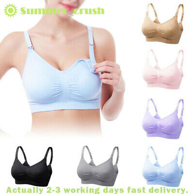 Women Seamless Maternity Cotton Modal Bralette Wireless for Pregnancy Breastfeeding and Sleeping Vellette Nursing Bra