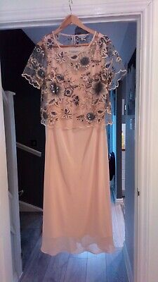 mother of the bride designer outfit size 14 by chesca mid length