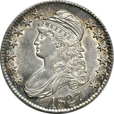 1827 Capped Bust Half Dollar, Almost Uncirculated, 50c C00034844
