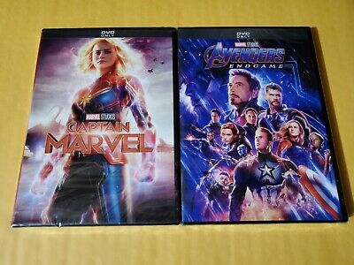 Avengers End Game and Captain Marvel Movie DVD Bundle New and Factory Sealed!