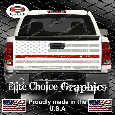 Distressed Wood Planks Dark Brown Vintage Truck Tailgate Wrap Graphic Decal