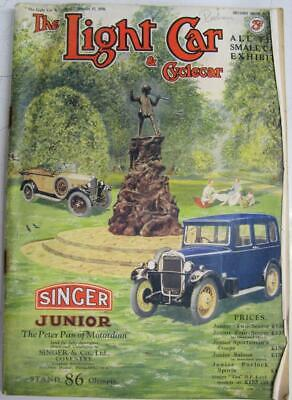 The Light Car Magazine 17 Oct 1930 2nd Olympia Show Number All Small Cars