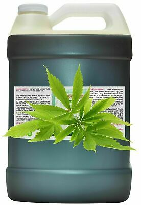 128 Oz /1 gallon hemp seed oil pure unrefined medical hemp oil gallon cold press