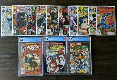AMAZING SPIDER-MAN Lot of 13 Venom/Carnage app #300 (CGC 8.5) & #361 (CGC 9.2)
