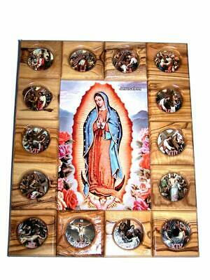 Holy Land Market Our Lady of Guadalupe with Stations of The Cross Icon Plaque