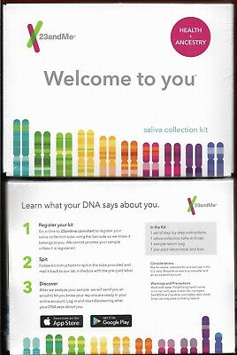 23&Me Ancestry & Health DNA Saliva Kit NEW IN BOX Unopened PREPAID NO LAB FEE