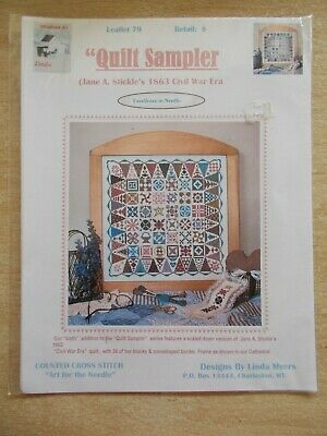 Quilt Sampler~Cross Stitch Pattern~Linda Myers #79~1863 Civil War Era