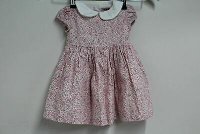 TROTTERS CONFITURE Girls Kids Floral Pink Catherine Dress 12-18M Age 1 NEW