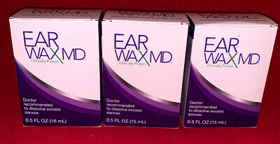 Ear Wax MD Recommended to Dissolve Excess Earway- 0.5fl oz / 15mL - 3 PACK