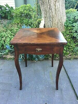 Antique Victorian Hall/ Occasional Table w Hidden 'envelope' Card / Games Table!