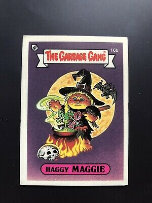 The Garbage Gang Haggy Maggie 16b 1985 Card Sticker Vintage