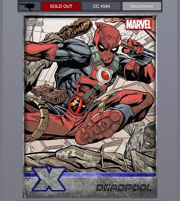DIGITAL Topps Marvel Collect Silver Xmen Weekly Deadpool Award cc4564 Uncommon