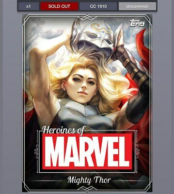 DIGITAL Topps Marvel Collect Heroines of Marvel White Mighty Thor Award cc1910