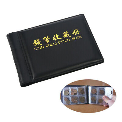 Hot 60-Coin Holder Collection Money Penny Storage Pockets Album Book NUOLUX