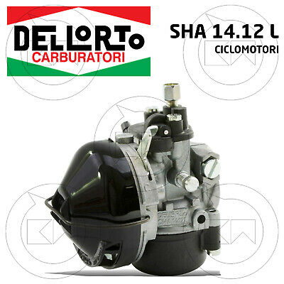 Carburateur Original Dell'Orto Sha 14.12 L Universel Cyclomoteurs 50cc 2T