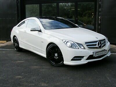 Mercedes E220 Coupe Cdi Sport Calcite White Pan Roof Nav Heated Leather 60K Auto