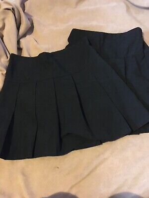 2 M & S Girls Black School Skirts Size 9-10 Years Good Condition