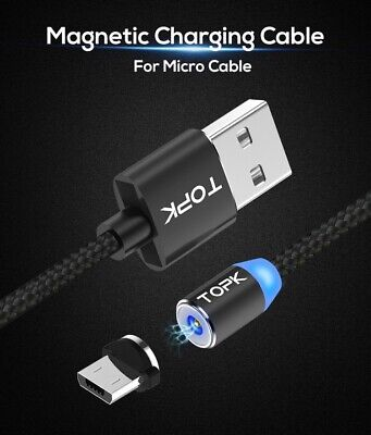Magnetische LED Micro USB Typ C Schnell Ladekabel LG Nokia Samsung Huawei Ps4