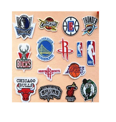 Patch Toppa Basket Nba Sport America Los Angeles Marchio Ricamata Termoadesiva