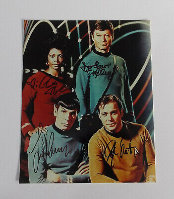 Star Trek Original Series Photo Autograph Signed Shatner Nimoy Kelly Nichols COA