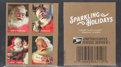 SC#5332 - 5335a - (Forever) Sparkling Holidays Booklet Block of 4 MNH #1 w/USPS