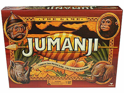 Jumanji Box Board Game Full Cardinal Edition Complete