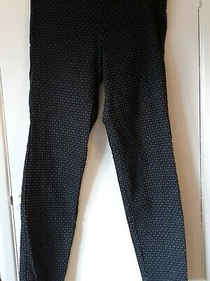 John Lewis Max Studio grey black stretch trousers size 8 label would fit 10- 12