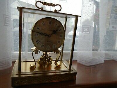 Vintage Kundo Glass Mantel Clock For Spares Repair