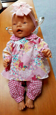 Baby Born  Doll - Pink Eyes - Zapf Creations Dressed