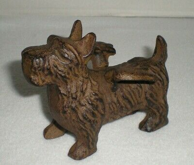 Rare Cast Iron Terrie Dog with Wings