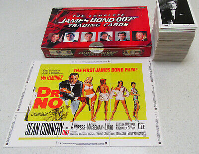 THE COMPLETE JAMES BOND 007 CARDS SET + Empty BOX Casino Royale Movie Posters