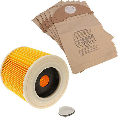 Filter + Dust Bags For KARCHER MV2 A2000 A2003 A2004 Vacuum Cleaner Replacement