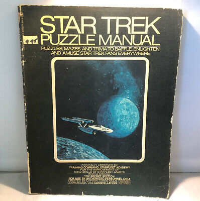 Star Trek Puzzle Manual Book 1976 Bantom Books - Used Condition #RARE