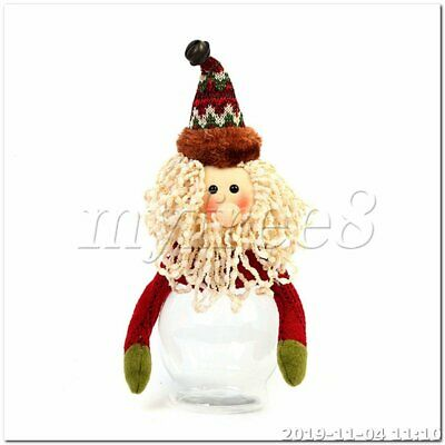 Ceramic Cookie Jar Father Christmas Storage Tub 11 Inch #NG