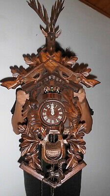 xxl cuckoo clock black forest 8 day mechanical 2 melodie with dancer original