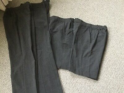Two X Grey School Shorts & Two X Grey School Trousers By M&S 10-11yrs