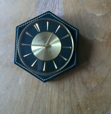 Pendulette 8 Jrs Jaeger Lecoultre 8 Days Clock Leather Cased Circa 1950
