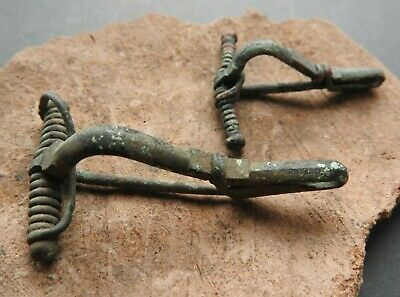 Authentic Ancient Roman Bronze Lot 2 different brooches 2-4 years