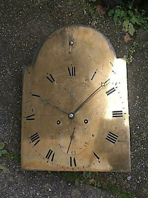 C1790 8 day   LONGCASE GRANDFATHER CLOCK DIAL+movement 12X16+1/2   James Saddlet