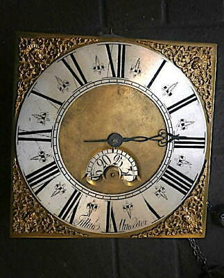 C1750 30hr   LONGCASE GRANDFATHER CLOCK DIAL+movement 12 inch       Sillito, Utt