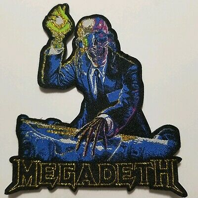 Megadeth shaped WOVEN  PATCH