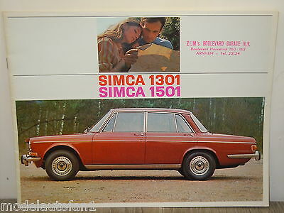 Folder/Brochure Simca 1301 - 1305 Saloon *4558