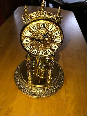 KUNDO Kieninger & Obergfell Gold Clock 400 Day Anniversary NO KEY~ No Glass Dome