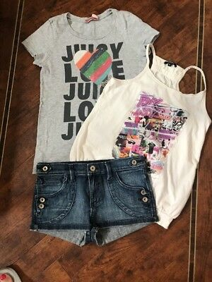 JUICY COUTURE - T-SHIRT & SHORTS, DKNY Top  -AGE 12 YEARS