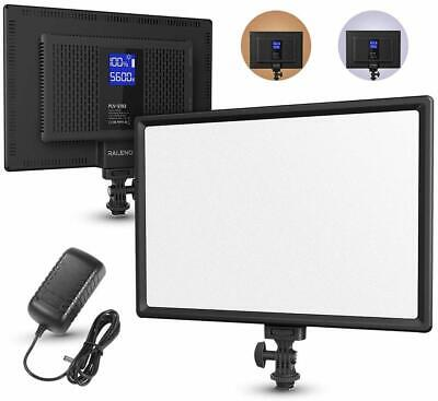 RALENO LED Video Light, PLV-S192 Ultra-thin Panel Camera Light with LCD Display