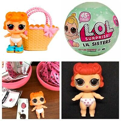 LOL Surprise Doll Lil Jitterbug Series 2 Ball Lil Sis Complete Authentic NEW USA