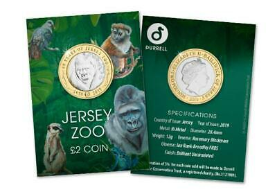 2019 Jersey - Durrell Zoo £2 Coin - superb UNC