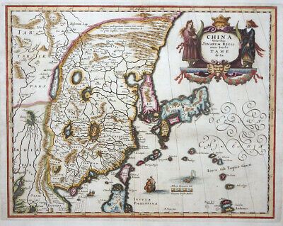 Asien China Veteribus Sinarum Regio Korea Japan Philippinen Great Wall 1638
