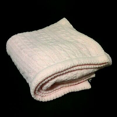 Amy Coe Pink Cable Knit Rope Baby Blanket Security Lovey